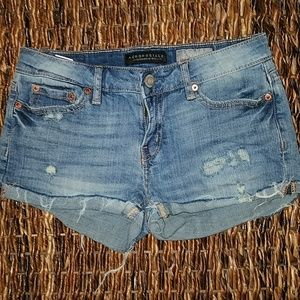 Aeropostale denim Jean shorty shorts size 2